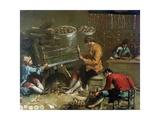 Le fabricant de chapelets Giclee Print by Francesco Guardi