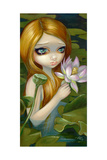 Mermaid Picking Lotus Blossoms Photographic Print by Jasmine Becket-Griffith