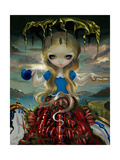 Alice in a Dali Dress Prints by Jasmine Becket-Griffith
