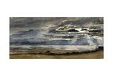 Soleil couchant, soir d''orage Giclee Print by Paul Huet