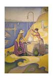 Femmes au puits Gicléetryck av Paul Signac