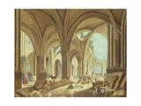 Démolition de Saint-Jean-en-Grève Giclee Print by Pierre-Antoine Demachy