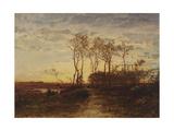 La Camargue, coucher de soleil Giclee Print by Félix Ziem