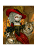 Loup-Garou: d Automne Photographic Print by Jasmine Becket-Griffith