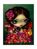 Snapdragon Fairy Photographic Print by Jasmine Becket-Griffith