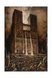 Les Truands assiégeant Notre-Dame de Paris Giclee Print by François-Nicolas Chifflart