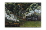 Chemin de fer en Russie Giclee Print by Jean Marchand
