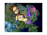 Dragonfly Mermaid Photographic Print by Jasmine Becket-Griffith