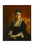 Portrait de femme en robe noire Giclee Print by Jean-Paul Laurens