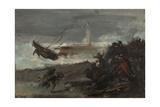 Naufrage dans le port de Dieppe Giclee Print by Jean-Baptiste Carpeaux