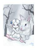 Snow Bunny Papier Photo par Jasmine Becket-Griffith