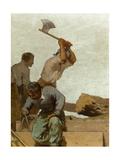Charpente, Esquisse pour l'école de la rue Château-Landon Giclee Print by Jules Didier