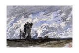 Etude de ciel à Fontenay-aux-Roses Giclee Print by Paul Huet