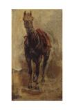 Etude de cheval pour le portrait équestre du comte Palikao Giclee Print by Paul Baudry