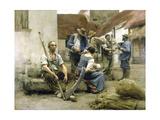 La paye des moissonneurs Giclee Print by Léon Lhermitte