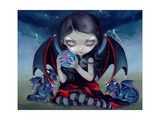 Dark Dragonling Photographic Print by Jasmine Becket-Griffith