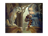Alannah and the Gargoyle Photographic Print by Jasmine Becket-Griffith