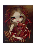 Sienna Dragonling Photographic Print by Jasmine Becket-Griffith