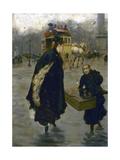Parisiennes sur la place de la Concorde Giclee Print by Giuseppe De Nittis