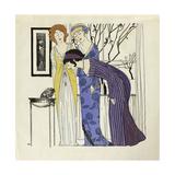 Les robes de Paul Poiret racontées, Paul Iribe, Planche 3, Trois robes drapées Giclee Print by Paul Iribe