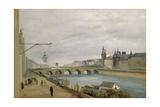 Le Pont-au-Change vu du quai de Gesvres Giclee Print by Jean-Baptiste-Camille Corot