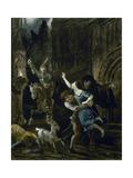 Enlèvement d'Esméralda Giclee Print by Louis Boulanger