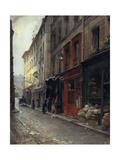 Le cabaret du Père Lunette, rue des Anglais Giclee Print by Paul Schaan