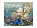 Fiona and the Unicorn Photographic Print by Jasmine Becket-Griffith