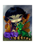 Two Cute Dragonlings Photographic Print by Jasmine Becket-Griffith