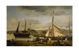 Les Quais marchands de Rouen Giclee Print by Jean-Baptiste-Camille Corot