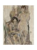 Zimette et Mireille Gicleetryck av Jules Pascin