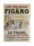 Les six pages du Figaro Giclee Print by Harry Finney