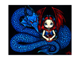 Blue Serpent - a Gothic Fairy and her Dragon Photographic Print by Jasmine Becket-Griffith