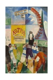 L'équipe de Cardiff Giclee Print by Robert Delaunay
