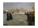 Place du Carrousel, ruines des Tuileries Giclee Print by Giuseppe De Nittis