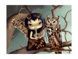 Owlyn Schilderijen van Jasmine Becket-Griffith