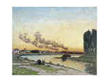 Soleil couchant à Ivry Giclee Print by Jean Baptiste Armand Guillaumin