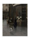 La parfumerie Violet (à l'angle du boulevard des Capucines et de la rue Scribe) Giclee Print by Giuseppe De Nittis