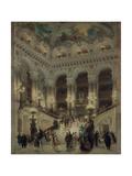Escalier de l'Opéra Giclee Print by Louis Béroud