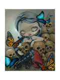 Butterflies and Bones Photographic Print by Jasmine Becket-Griffith