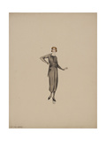 Robe satin noir La Cosse Giclee Print by Madeleine Vionnet