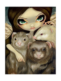 Angel with Ferrets Print by Jasmine Becket-Griffith