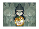 Born of a Pumpkin Photographic Print by Jasmine Becket-Griffith