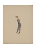 Robe drill bleu avec parure lingerie Giclee Print by Madeleine Vionnet