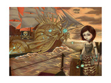 Steampunk Pirates: Maritime Sunset Photographic Print by Jasmine Becket-Griffith
