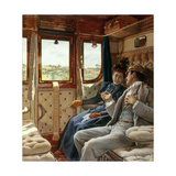Couple dans un compartiment de train Giclee Print by Ricardo Lopez-Cabrera