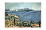 Golfe de Marseille vu de l'Estaque Giclee Print by Paul Cézanne