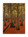 La Forêt au sol rouge Giclee Print by Georges Lacombe