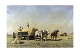 La moisson Giclee Print by Jules Veyrassat