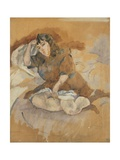 Jeune italienne assise Giclee Print by Jules Pascin